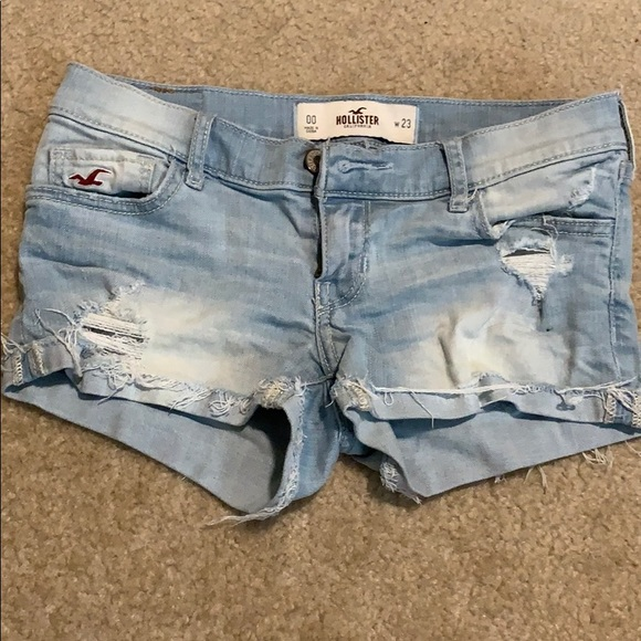 Hollister Pants - Hollister Light Wash Ripped Shorts